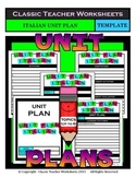 Unit Plan - Italian Unit Plan - Template - Up to Six Topics