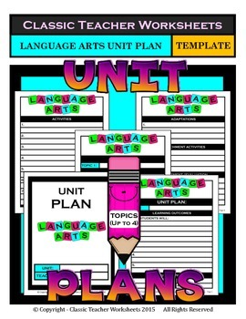 Unit Plan - Language Arts Unit Plan - Template - Up to Four Topics