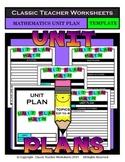 Unit Plan - Math Unit Plan - Template - Up to Four Topics