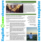 Unit Plan Newsletter Template: American Romanticism