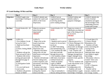 Worksheets Of Mice And Men Worksheets of mice and men worksheet sharebrowse unit plan complete daily by ms mayer