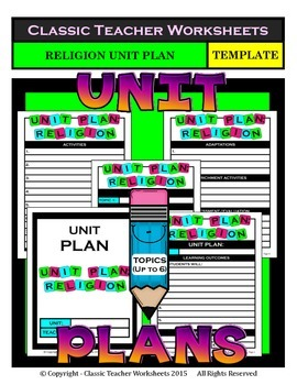 Unit Plan - Religion Unit Plan - Template - Up to Six Topics
