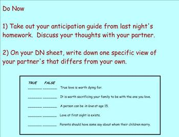 Unit Plan - Romeo and Juliet: Complete SMART Lessons