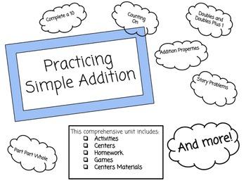 Unit Plan: Simple Addition