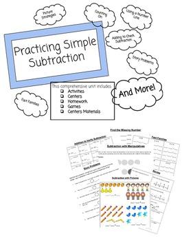 Unit Plan: Simple Subtraction