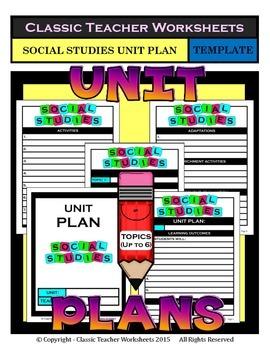 Unit Plan - Social Studies Unit Plan - Template - Up to Si