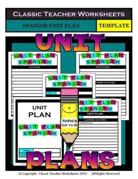 Unit Plan - Spanish Unit Plan - Template - Up to Six Topics