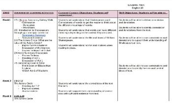 Unit Plan Template/Macbeth Sample Lesson