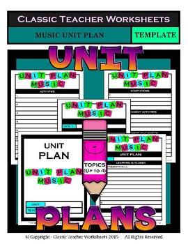 Unit Plan Templates Bundle - Set 2 - Up to 4 Topics - PE Art Music Health