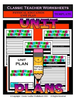 Unit Plan Templates Bundle - Set 2 - Up to 6 Topics - PE Art Music Health