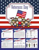 Unit Plan Veterans Day. Reading Comp, Math, Art, Vocab, Grammar & teachers guide