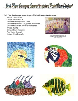 Unit Plan for Georges Seurat inspired Pointillism