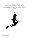 Comprehensive Unit Plan for The Crucible by Arthur Miller CCSS Aligned