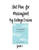 Unit Plan for Mockingbird by Kathryn Erskine