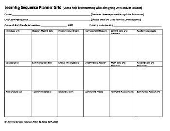 Unit Planner Grid