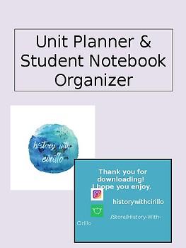 Unit Planner // Notebook Organizer