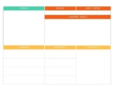 Unit Planner by theme - for homeschooling