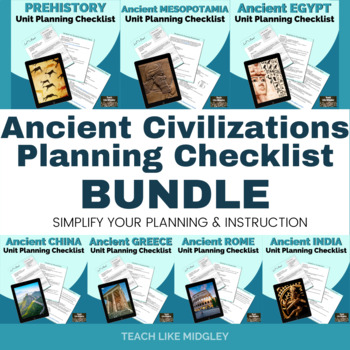 Ancient Civilizations: Unit Planning Bundle