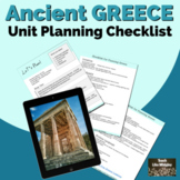 Unit Planning Checklist for Ancient Greece