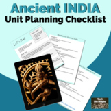Unit Planning Checklist for Ancient India