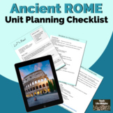 Unit Planning Checklist for Ancient Rome