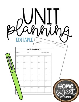 Unit Planning Pages *Editable