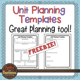 Unit Planning Template - Freebie