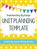 Unit Planning Template - Understanding by Design (Fully Editable)