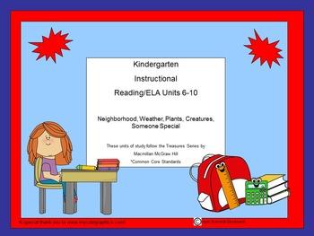 Unit Plans 6-10 Kindergarten Reading