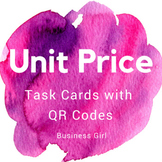 Unit Price Task Cards with QR Codes for Business Math