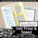 Unit Price and Unit Speed Lesson for Interactive Notebooks