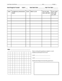 Unit Progress Tracker for students to keep a record of the