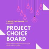 Unit Project Choice Board