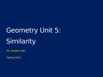 Unit: Proportions and Similarity (4 lessons!)