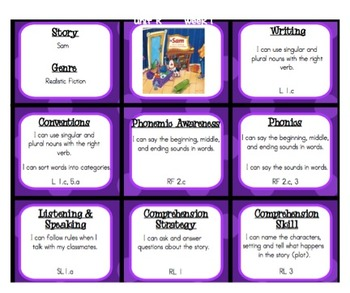 "Unit R ""I Can"" Common Core Reference Pages 1st Grade Reading Street"