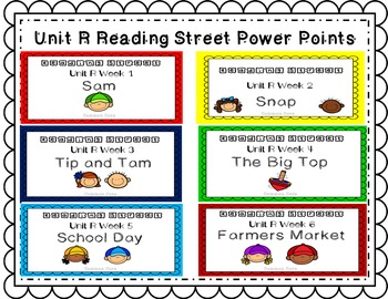 Unit R PowerPoint Bundle! Reading Street. First Grade. Interactive.