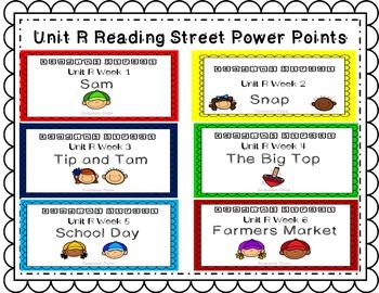Unit R PowerPoint Bundle! Reading Street. First Grade. Int
