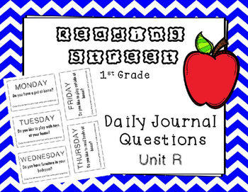 Unit R Reading Street Weekly Journal Ideas. 1st Grade.