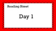 Unit R Week 1 PowerPoint. Sam. Reading Street. First Grade