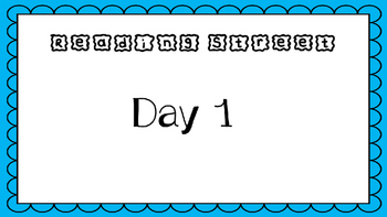 Unit R Week 5 PowerPoint. School Day. Reading Street. First Grade. Interactive.