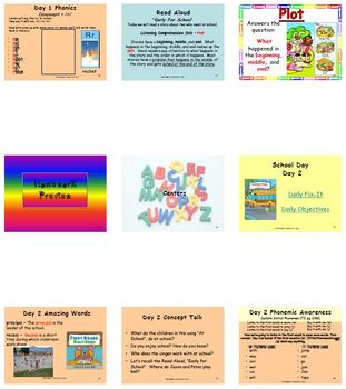 Unit R Week 5 - School Day - Lesson Bundle (Versions 2013, 2011, and 2008)