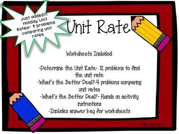Unit Rate Set