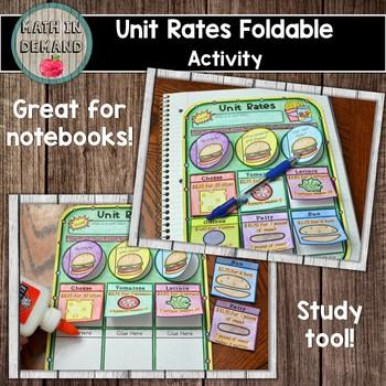 Unit Rate Foldable Activity