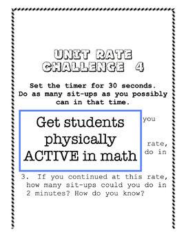 Unit Rate Active Challenges