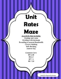 Unit Rate: An engaging maze to review unit rates (Ratios and Proportions)