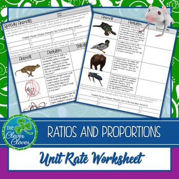 Unit Rate Worksheet