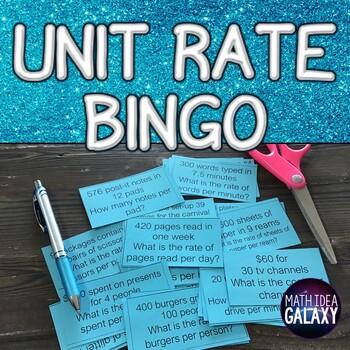 Unit Rate Bingo