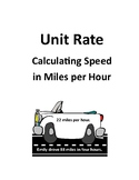 Unit Rate - Calculating Speed in Miles Per Hour
