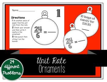 Unit Rate Christmas Ornaments