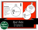 Unit Rate Christmas Ornaments